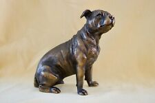 Pitbull Staffie Bronze   - Boxed New