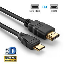 HDMI MALE to Mini HDMI MALE CABLE High Speed 1080p 3D FOR HDTV Gold Plated