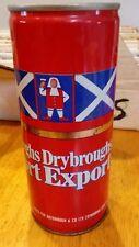 Vintage Drybroughs Export Ediburgh Scotland 44 cl Steel Beer Can