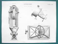 ASTRONOMY Equatorial Telescope - c. 1830 Fine Quality Print