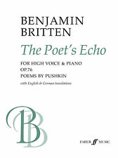 The Poets Echo Piano Keyboard Vocal VOICE Learn to Play SONGS FABER Music BOOK