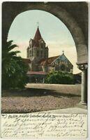 Postcard Stanford CA Memorial Chapel Beautiful Arch View California 1900's