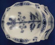 Antique 18thC Meissen Porcelain Onion Open Salt Dish Trencher Porzellan Saliere