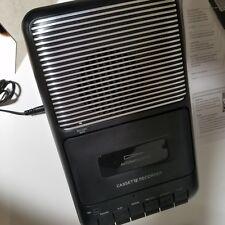 Onn Portable Cassette Recorder W/External Microphone Casssette Tape New Video