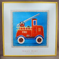 Simon Hart Fire Engine Children's Framed Print