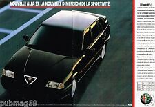 Publicité Advertising 1990 (2 pages) Nouvelle Alfa Romeo 33