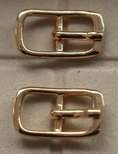 Small Gold Belt Buckles Good For Dolls Crafts Hats Shoes Lot of 2 Many Available