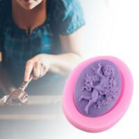 3D Angel Shape Embossed Food Grade Silicone Fondant Cake Handmade Soap Mould