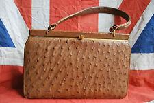 Original Vintage Osterich Skin Handbag - Vintage Wedding/Stage/Theatre/TV Prop