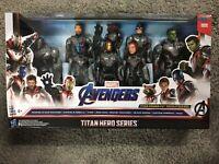 """2019 Marvel Avengers EndGame Titan Hero Series 12"""" Action Figures Team Pack of 8"""