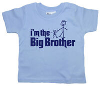 """Dirty Fingers Cute Baby Boy Toddler T-shirt Top """"I'm the Big Brother"""""""