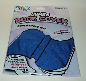JUMBO BOOK COVER Super Stretchy Fits Most Oversized Books Washable Sku04 NIP