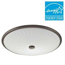 Lithonia Lighting Liana 17 in. Bronze LED Cut Glass Flush Mount