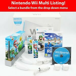 Boxed Nintendo Wii Console + Custom Wrap! *Choose Your Bundle* Tested & Working