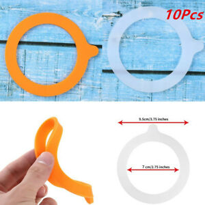 10Pcs Silicone Jar Gaskets Airtight Seals Rings Replacement Fits Canning Mason