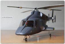 Airwolf / Bell222 -Rumpf für 330er RC-Hubschrauber