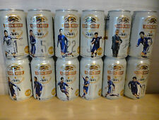 Japan COKE ZERO 2010 J.League football soccer OPEN used can x9 set Vissel Gamba