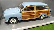 FORD WOODY WAGON 1949 bleu au 1/18 d MOTOR CITY CLASSICS 30004 voiture miniature
