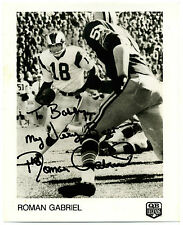 Roman Gabriel Photo Signed Autograph (NFL - Los Angeles Rams)