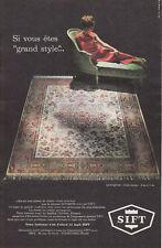 Publicité ancienne tapis SIFT 1963 issue de magazine