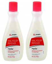 SWAN NAIL POLISH REMOVER Regular Protein Enriched for Natural Nails 6oz Each Lot