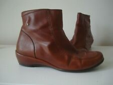 Ladies PIKOLINOS Soft Tan Leather Wedge Ankle Boots UK 7 / EU 41 RRP £114.95