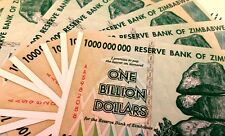 ! ZIMBABWE $1 Billion * 10 pieces.  UNCIRCULATED (100 Trillion series). Money !
