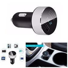 3.1A Cargador Usb Doble Pantalla LED Probador de voltaje de batería de coche para teléfono nos Plata