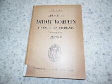 1928.Aperçu du droit romain.List