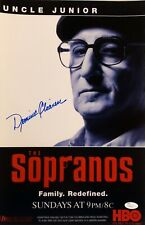 """Dominic Chianese """"The Sopranos"""" Uncle Junior Autographed 11x17 Hbo Poster Jsa"""