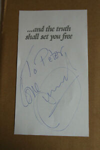 DAVID ICKE Hand Signed AUTOGRAPH with dedication