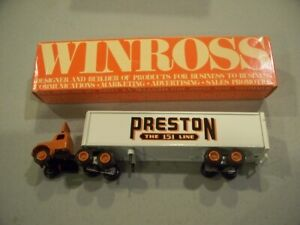 PRESTON TRUCKING THE 151 LINE 1986 TRACTOR TRAILER DIECAST WINROSS TRUCK