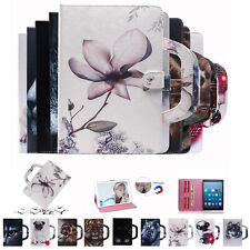 Patterned Flip Stand Leather Case Cover For Samsung Tab P200 T720 T510 T830 T590