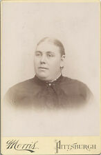 CABINET CARD PORTRAIT OF PORTLY WOMEN IN BEAUTIFUL SCARF - PITTSBURGH, PA