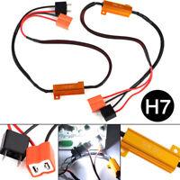 2Pcs H7 50W 6Ω LED decoder car load resistor warning canceller decoder light RZ