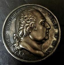 MEDAILLE D'IDENTITE PARLEMENTAIRE 1822 EFFIGIE LOUIS XVIII  SPLENDIDE