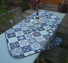 Tablecloth Provence 130x150 CM Pink Turquoise France Easy-Care Non-Iron