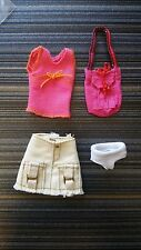 ONLY HEARTS CLUB LOT #J6. 2 DOLL OUTFITS. CAMOUFLAGE OUTFIT, PINK TOP, PURSE….