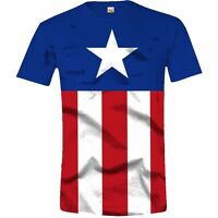 Captain America Star and Stripes Marvel Original Männer Mens T-Shirt