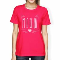 Meow Womens Hot Pink Shirt