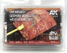 AK Interactive AK4176 Unfinished German Vehicles Weathering Set (AFV Series)