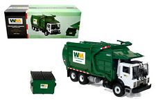 FIRST GEAR 1:34 WASTE MANAGEMENT MACK TRUCK FRONT-END LOADER WITH TRASH BIN