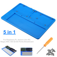 5 in 1 RAB Holder Breadboard ABS Base For Raspberry Pi Arduino UNO R3 Mega  TI