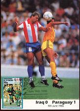 Football Maxicard 1986, Iraq V Paraguay, Handstamped #C26414