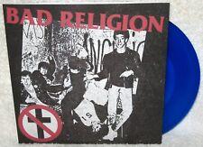 "BAD RELIGION S/T 7"" EP PUNK ROCK Melodic Hardcore PUBLIC SERVICE TRACKS Blue Wax"