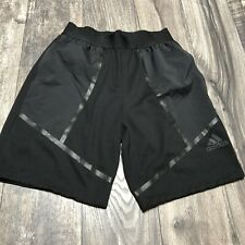 ADIDAS Men's Athletic ShortsBlack Spandex Waist Size Small