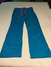 """""""Pre-owned"""" Blue Med Couture Women Scrub Pants Size Xs"""