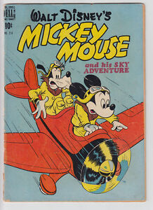 MICKEY MOUSE # 214 1948 FOUR COLOR Sky Adventure VERY GOOD 4.0