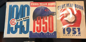 1949, 1950 & 1951 Chicago Cubs Yearbooks  (set of 3)