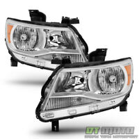 Chrome 2015 2016 2017 Chevy Colorado Headlights Headlamps Replacement Left+Right